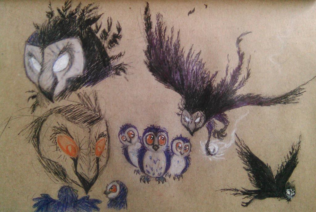 Kuro the owl by G-R-O-X