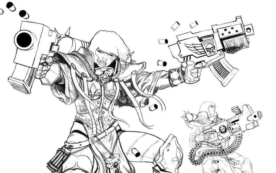 SISTERS OF BATTLE lines by HenryPonciano