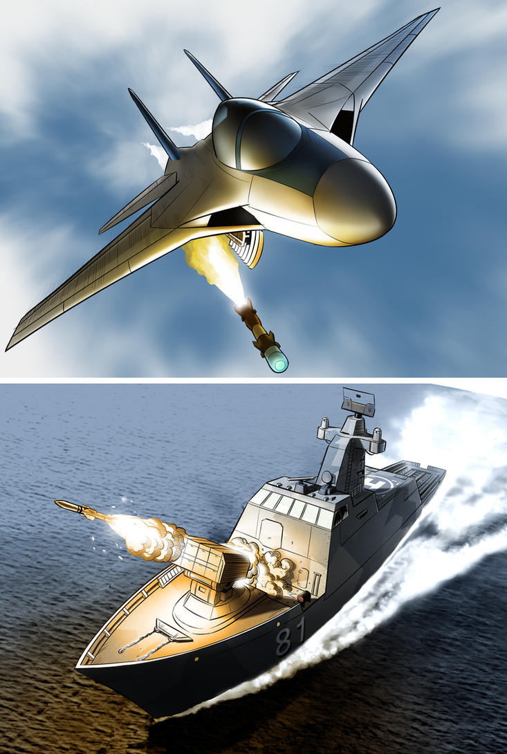 RvM  Air and Sea weapons by HenryPonciano