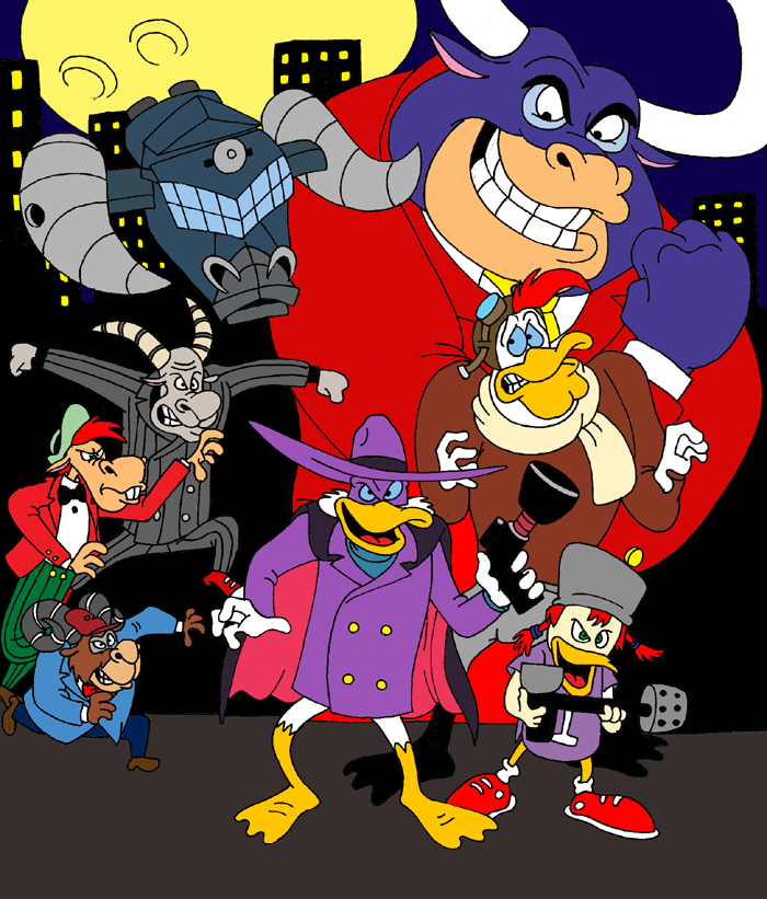 Darkwing Duck Poster Colored by Kooshmeister on DeviantArt