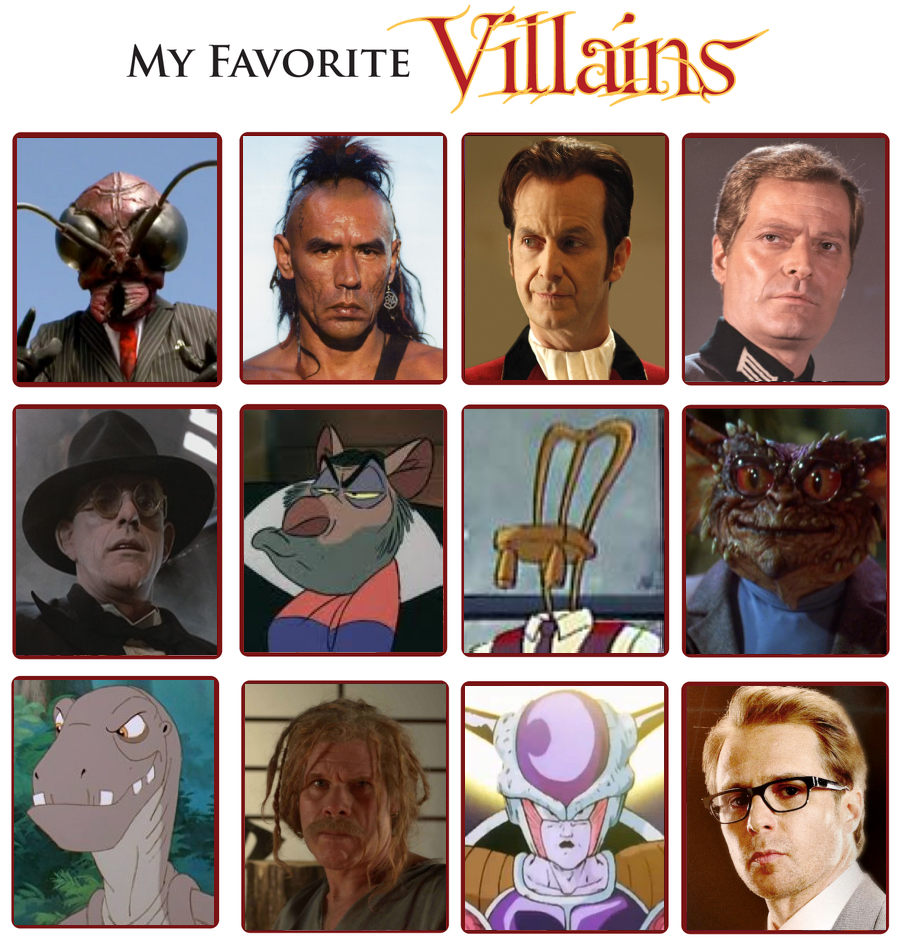My Favorite Villains Meme 3.0