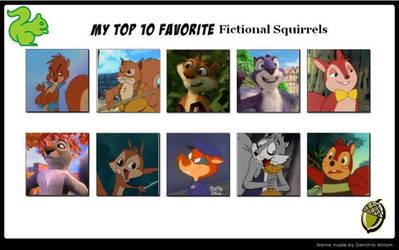 My Top 10 Favorite Fictional Squirrels