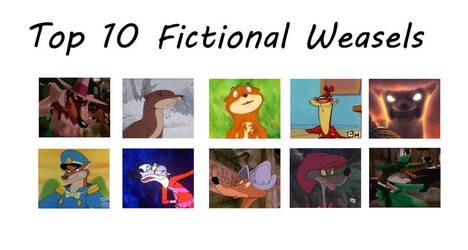 Top 10 Fictional Weasels