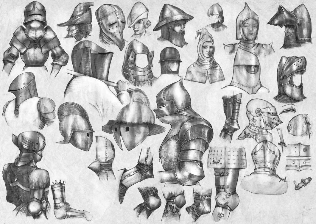 how to draw medieval style