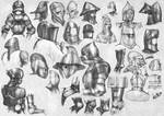 Medieval helmets and articulated joints (2)