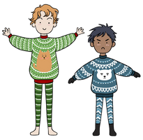 Apen, Enel + Christmas Sweaters by Xephinetsa