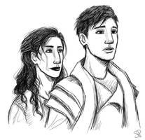 Atton and Rashida by Xephinetsa