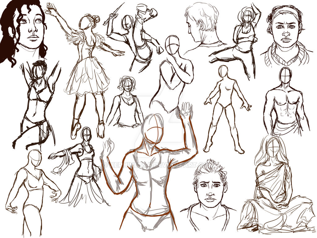 Gesture and Expression Practice: 0815 by Xephinetsa