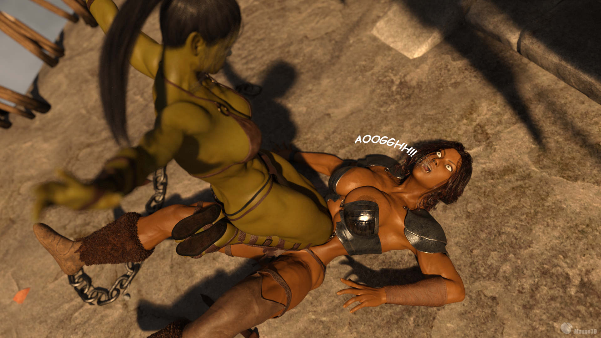 Orc and musclegirl - 1 part 2