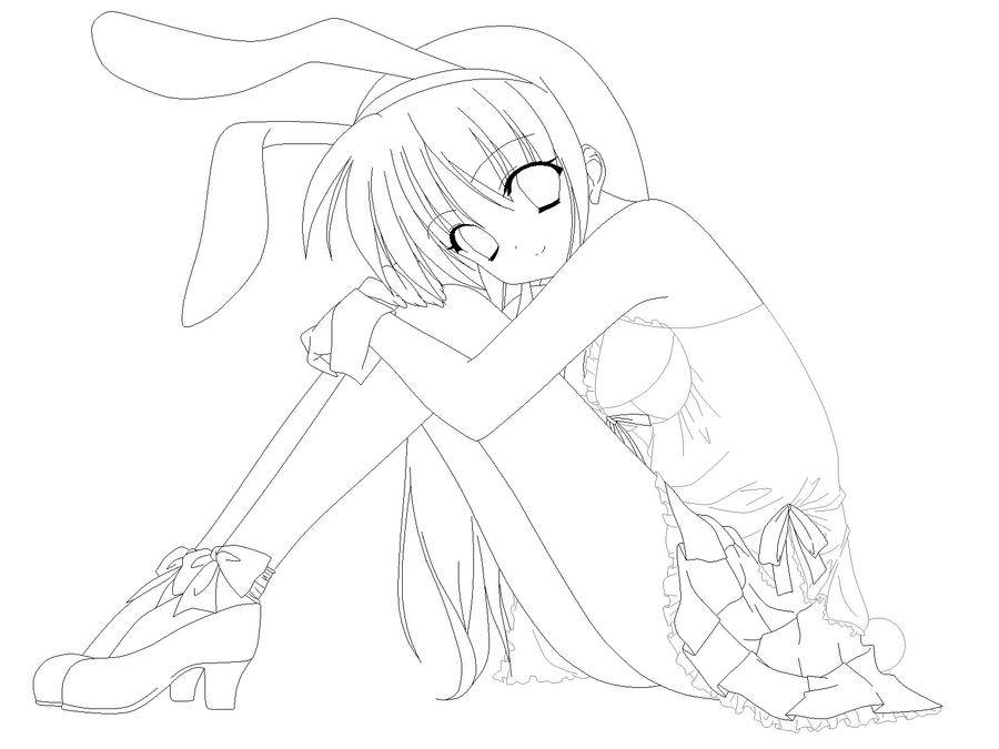 anime bunny coloring pages - photo#15