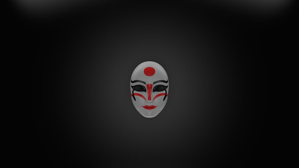 Kabuki Mask Wallpaper By JerziBoss
