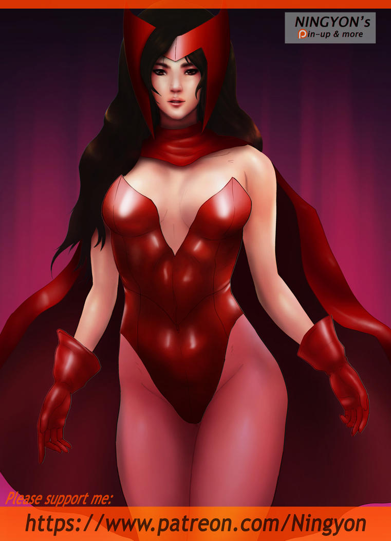 Scarlet Witch Pin up by NaaN-AnA