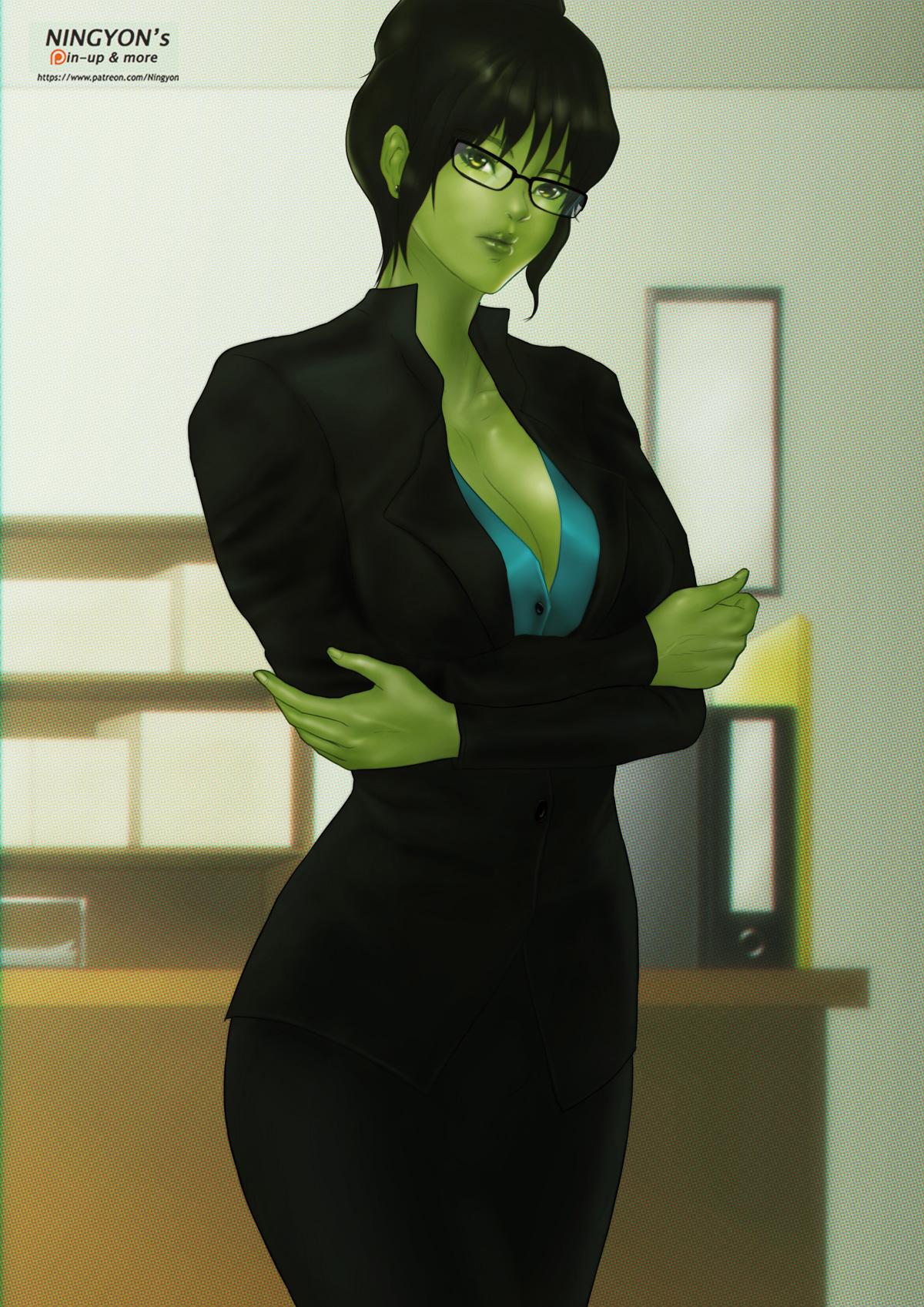 [Attorney She-Hulk] by NaaN-AnA on DeviantArt