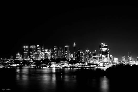 Cityscape At Sydney - Black And White Version