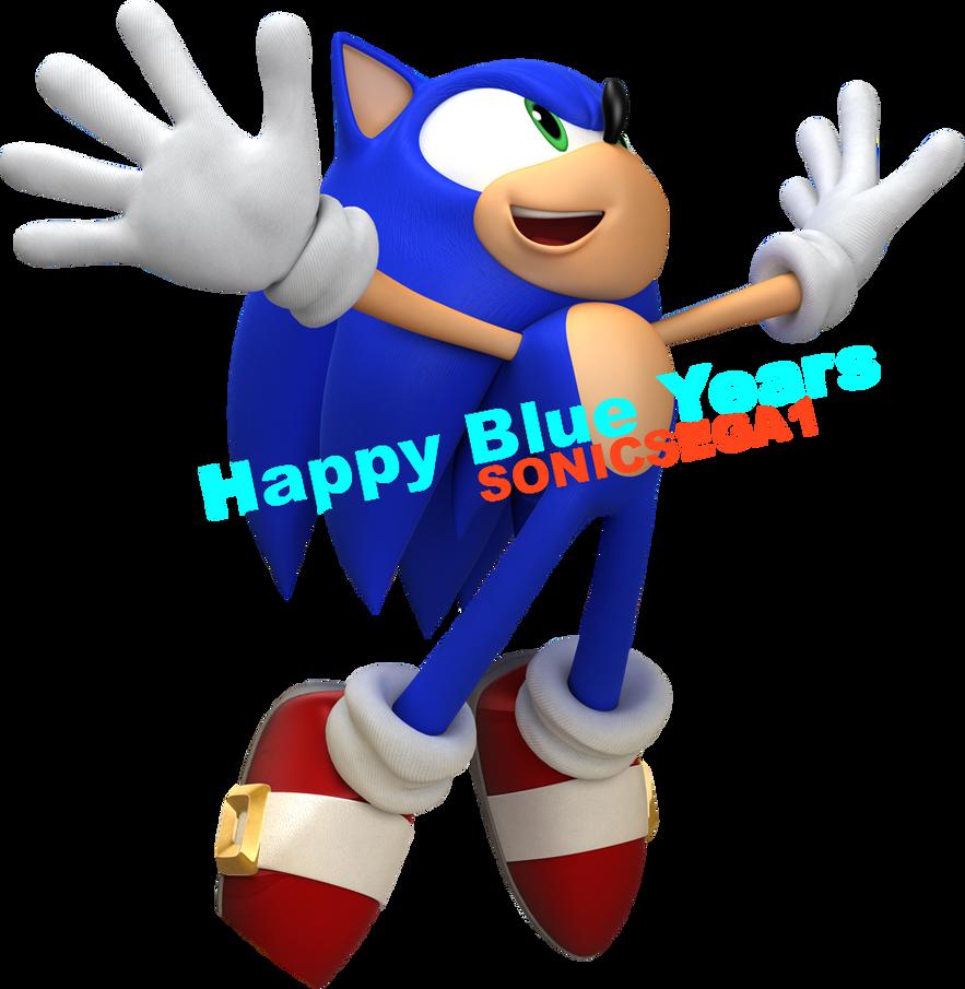 HAPPY BLUE YEARS-From SonicSEGA1 by LukeVei-Da-Hedgehog