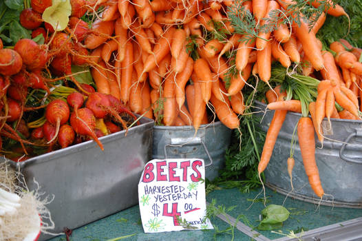 Farmers Market Root Vegetables