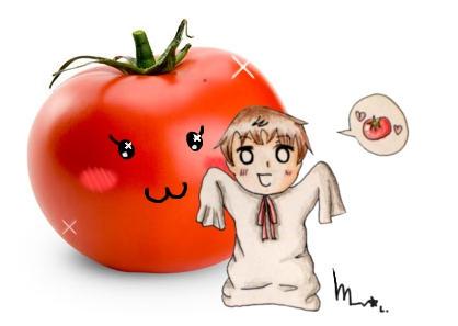 Chibi Spain and Tomatita
