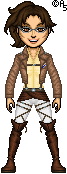 Attack on Titan: Hange by thetrappedartist