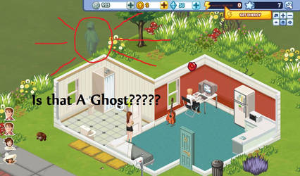 The Sims Social Is it a ghost by Atsuko-Inuzuka