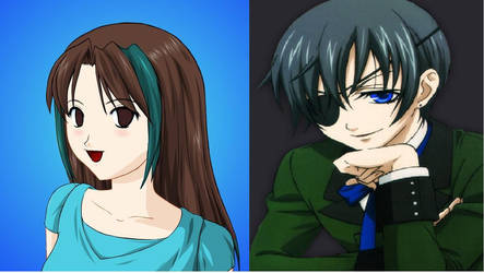 Ai Ayama and Ciel Phantomhive