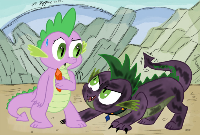 Spike and Shale by Noratcat