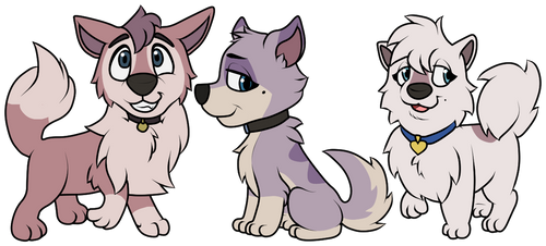 Dixie and Star Pups by Noratcat