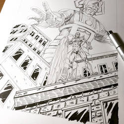 Galactus Silver surfer commission