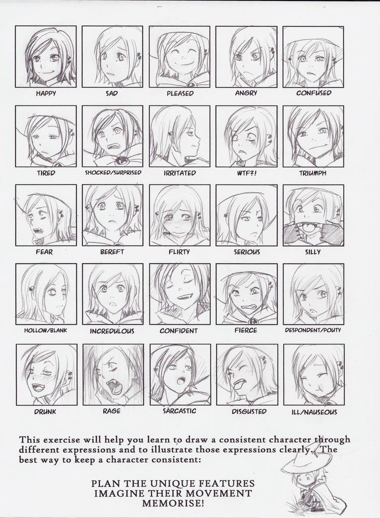 25 Expressions - Chidori by myRaven