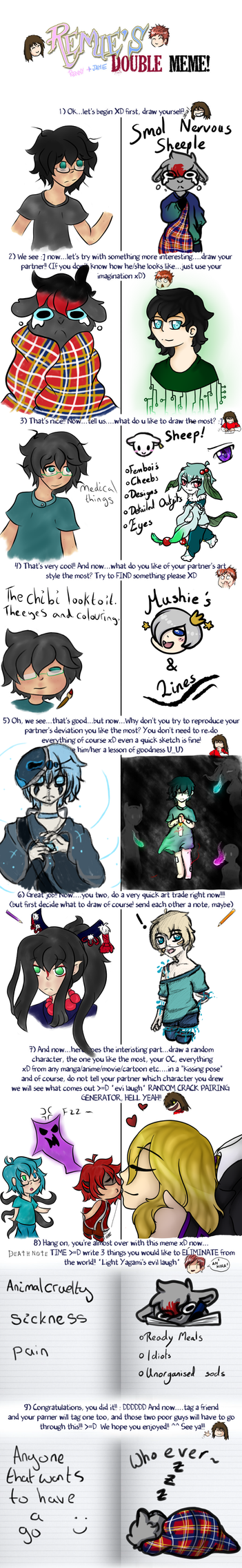 Electric and Kiwi: Double Meme by o0-ElectricDreams-0o
