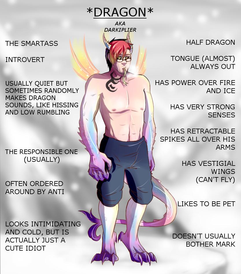 Darkiplier AKA Dragon Character Sheet by KenzyKoo