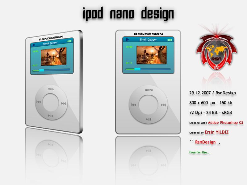 i-pod nano �izimim (PhotoShop)