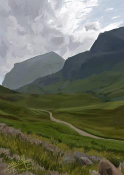 2h Doodle/Study - Landscape 10 (25012020)
