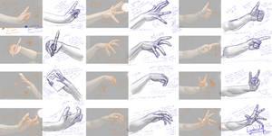 Hands Sketch Studies #5 (April 2020)
