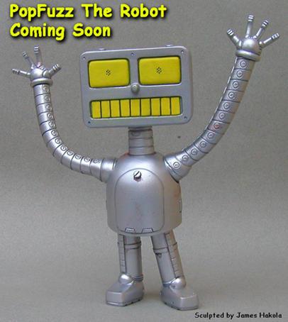 PopFuzz Robot Vinyl  Prototype