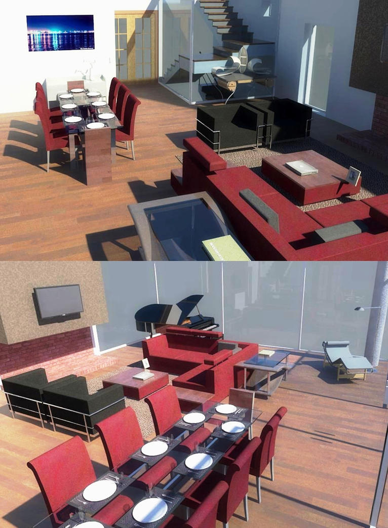 Living Room In Revit 2011 By Cooldesing