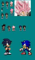 Sonic Black Concept w/ Super Sonic Rose