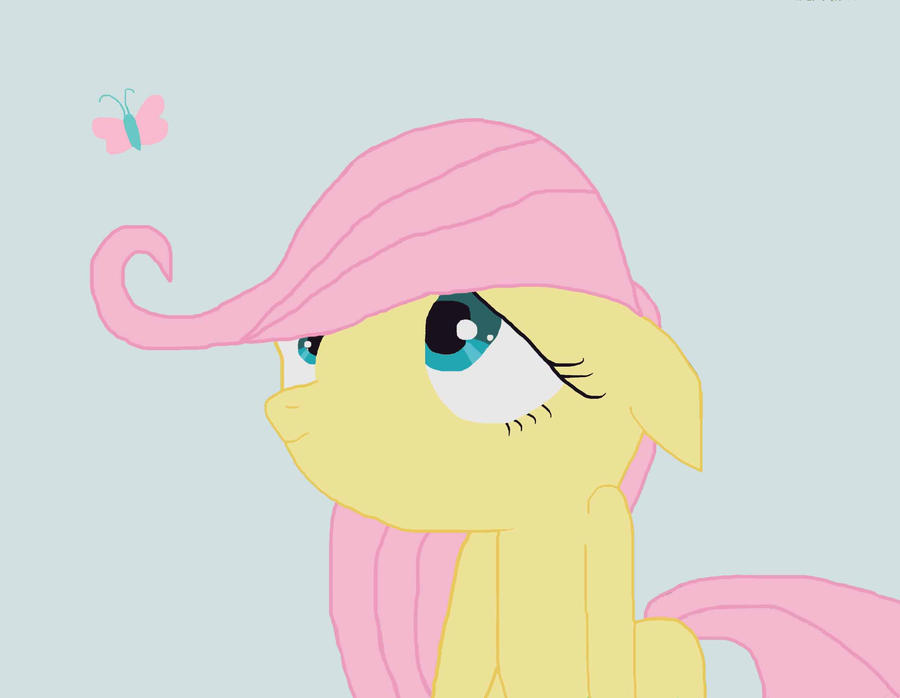Fluttershy Filly by swimfreak660
