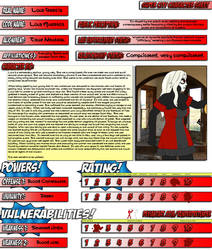 Super City Character Sheet - Lola Muertos