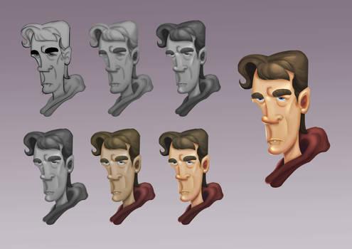 Male Cartoon Character Pratice