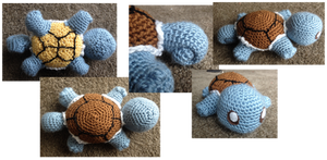 Squirtle crochet by Leafquill