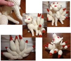 Ninetales crochet--Happy birthday, Isa! by Leafquill