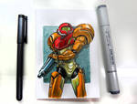 Samus Aran Sketch Card