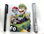 Luigi Death Stare Sketch Card