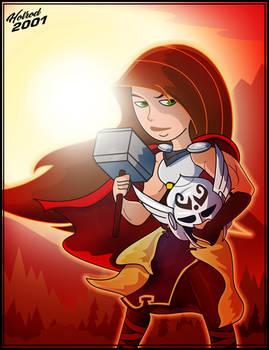 Kim as Lady Thor