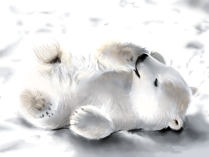 Little Polar Bear by SpaceDemented