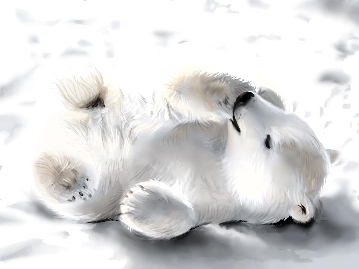 Little Polar Bear by SpaceDemented