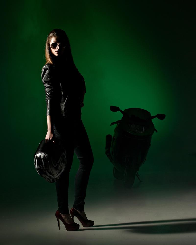 biker grrl . by stanb