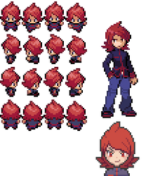 Pokemon Trainer Silver Style GBA (Set Sprite) by Skeizerr