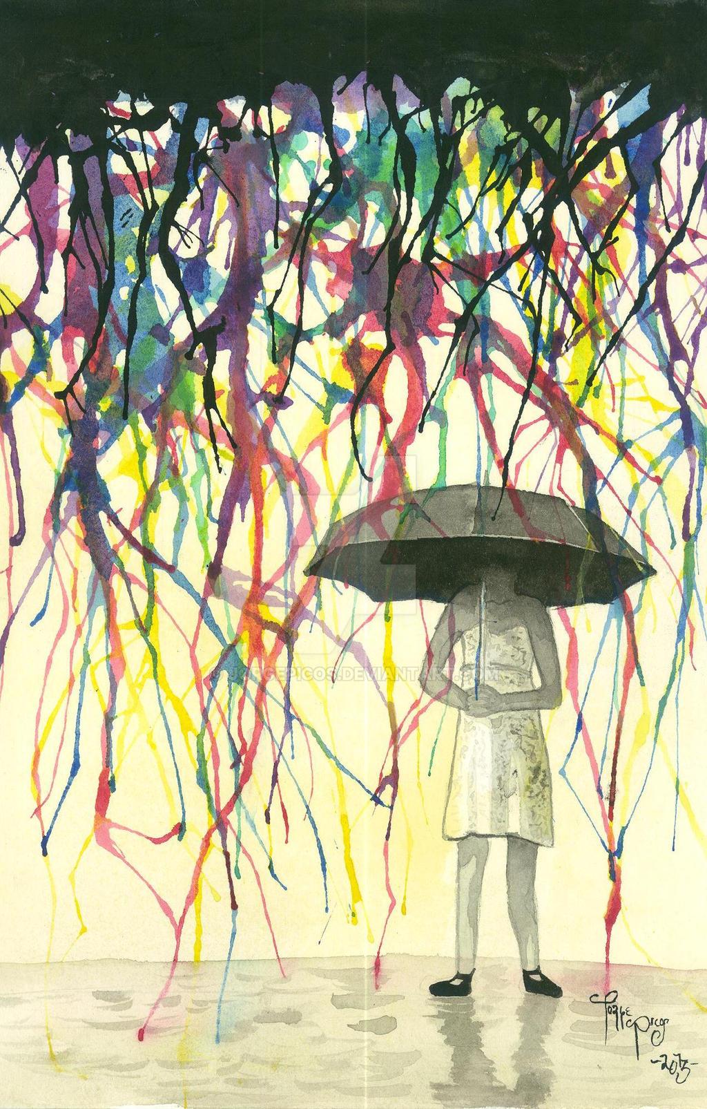 Colorful Rain by JorgePicos