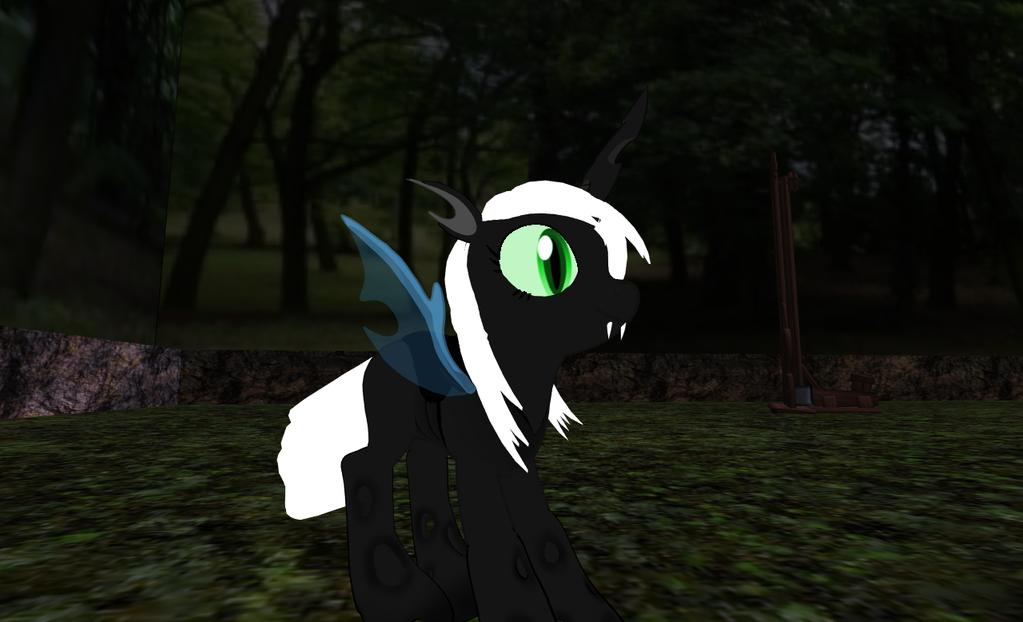 Raven Night princess Mantidae by darkcrill